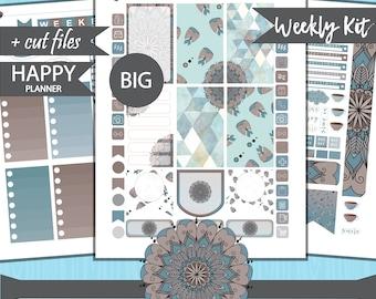 Big Happy Planner Stickers, Big Happy Planner Printable Stickers, Weekly Planner Stickers, Printable Weekly Planner, Mandala Stickers HPB-30
