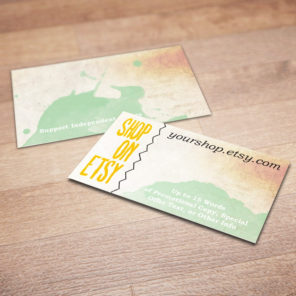 100 custom business cards for promoting your etsy shop in zoom reheart Choice Image