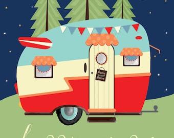 Happy Camper 12x16 PRINT