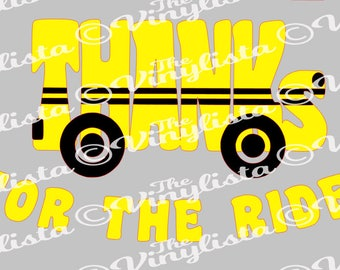 Thanks for the Ride school bus svg file, cut files, bus driver gift, thank you