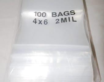 4x6 Zip Lock Poly Bags