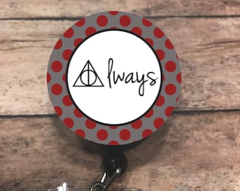 Harry Potter - retractable badge reel - badge holder - badge reel - ID badge holdet - badge clip