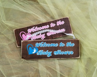 Welcome to the Baby Shower sign. Baby Shower wooden sign. Baby shower decoration. Rustic Baby Shower sign. Wooden Welcome sign.