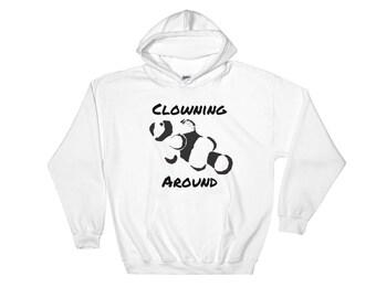 Clowning Around Hooded Sweatshirt