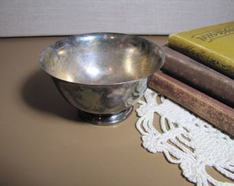 Small Silver Plated Pedestal Bowl - Paul Revere Reproduction