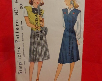 Vintage Simplicity Sewing Pattern #1434