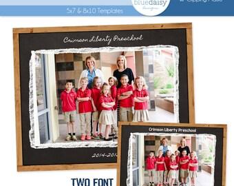 8x10 & 5x7 Classroom Storyboard  (Chalkboard) - Photographer Resources