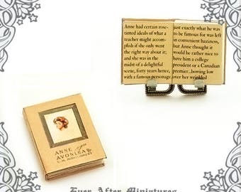 Anne of Green Gables Dollhouse Miniature Book Vol 2 – 1:12 Readable ANNE of AVONLEA Miniature Book Montgomery Child Book Printable DOWNLOAD