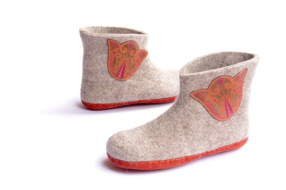 felted shoes high boots felted boiled slippers wool boots boots Lithuanian boots felt boots warm wool Home shoes OdHqwtxqa