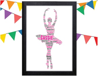 Personalized Gift Ballet Gifts Ballerina Gift Dance Gift Wall Art Wall Prints Wall Art Wall Decor Personalised Gift Wall Art Prints