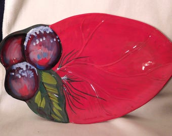 "Tracy Porter JOLLY OL SNOWY Sculptured Large Platter 17 3/4"""