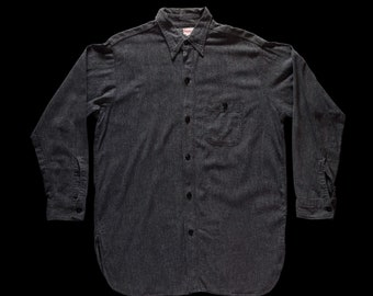 1940s Sears Salt and Pepper Shirt One Pocket Large