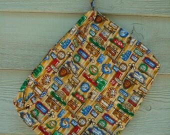 Durable, Zipper Top Loading Waterproof Wet Bag with Cotton Exterior - 12 X 15 X 2 - Bistro
