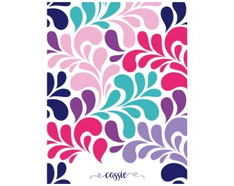Interchangeable Planner Cover – Removable Front and Back Cover | Weekly | Monthly | Journal | Notebook | Address Book | Swirl Multi