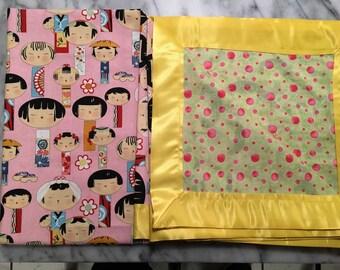 Kimono Doll/Polka Dot Blanket