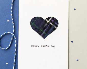 Scottish Mother's Day Card - Best Mother's Day Card - Scottish Tartan Card - Made In Scotland - Happy Maw's Day