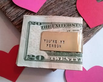 Valentine's Day Gift Friendship Money Clip for Boyfriend Valentine Gift Husband Custom Mens Jewelry Father's Day Gift Personalized Jewelry
