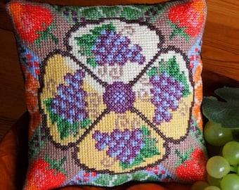 The Fruit Bowl Mini Cushion Cross Stitch Kit