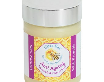 100% Natural and Pure Handmade Anti Ageing Face Balm Honey, Patchouli, Carrot Seed Oil & Jojoba 100ML