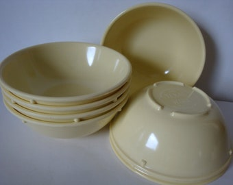 Texas Ware Light Yellow  Berry Bowls  Melamine  Large Lot