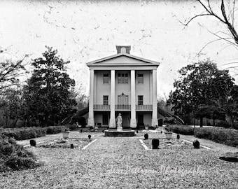Cokesbury College Photos, Greenwood SC Art, Historic buildings Print, Cottage Chic Wall Art, Black & Home Decor, 8x12 Fine Art Photography