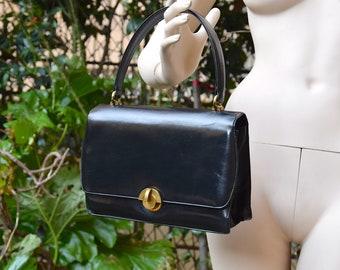 GUCCI 1950 Black Leather Handbag