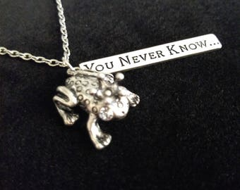Frog Prince Silver Necklace