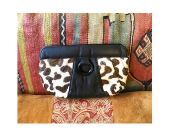 Vintage Carlos Falchi Pony Hair Clutch