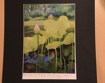 Pond With Life, Limited Edition Print by Alexia Scott