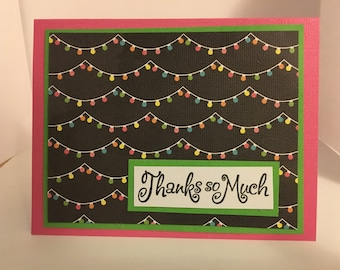 Lights Thank You Cards- Handmade