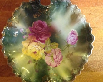 Beautiful Vintage Decortive Rose Bowl Weimar Germany 1900s
