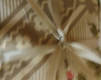 """QUILT SQUARES PRECUT/3""""X3"""" Fabric Squares/8 Different Patterns/ From 4-14 Squares Per Pattern/ Total No. Of Squares 58/Beige Main Color"""