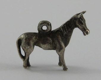 Horse Sterling Silver Vintage Charm For Bracelet