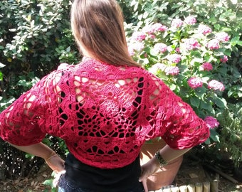 Bolero crochet 100% cotton