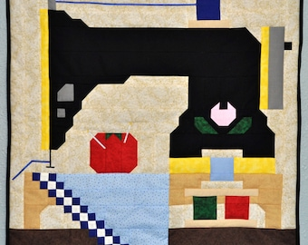 Sewing Machine Quilt pattern with multiple sizes included - PDF