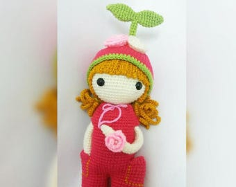Crochet garage, Crochet Doll Pattern - Apple Blossom