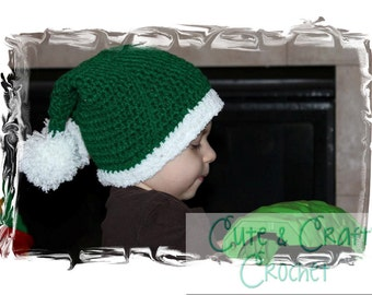 Santa's Double Tailed Hat - PDF Crochet Pattern - INSTANT DOWNLOAD