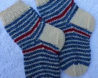 Knitted Baby Socks, Handmade Baby Socks, Multicolor Baby Socks, Striped Baby Socks, Toddler socks, Hand knitted socks baby,socks.