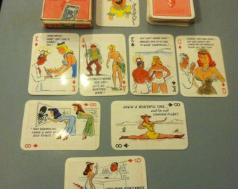 ADULT ONLY Cartoon Joke Pin Up Playing Cards