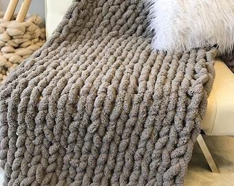 Chunky Rug Chunky Knit Carpet Giant Knit Throw Jumbo Knit