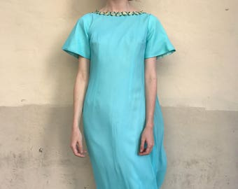 1960's Chiffon Overlay Maxi Gown