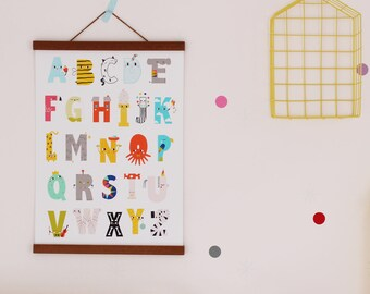 Happy Alphabet Poster