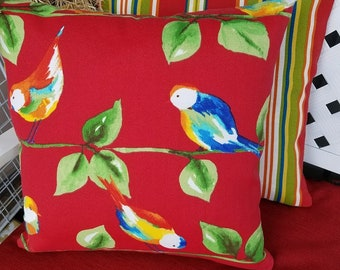 2 Throw Pillow Covers Bird Animal Flower Sofa Pillow Covers Envelope Style Outdoor Furniture