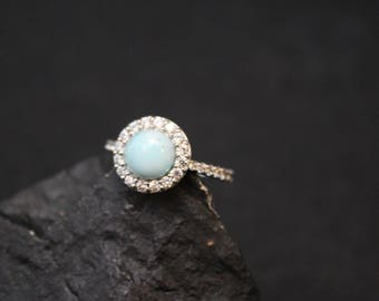 Rings Larimar Dainty Rings Teardrop Ring Pear Ring