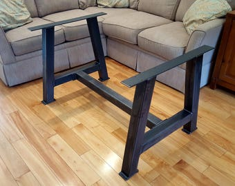 A Metal Table Legs With Cross Bar 3