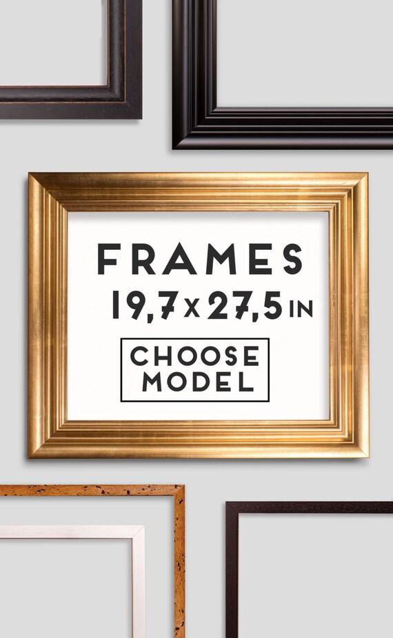 Frames for Prints - 9 models - Choose your frame - Size 19.7 x 27.5 ...