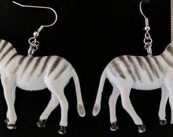 Zebra earrings #271