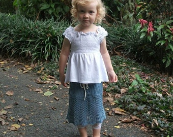 Download Now - CROCHET PATERN Knit-Look Lace Skirt - Sizes 2-12 Years - Pattern PDF