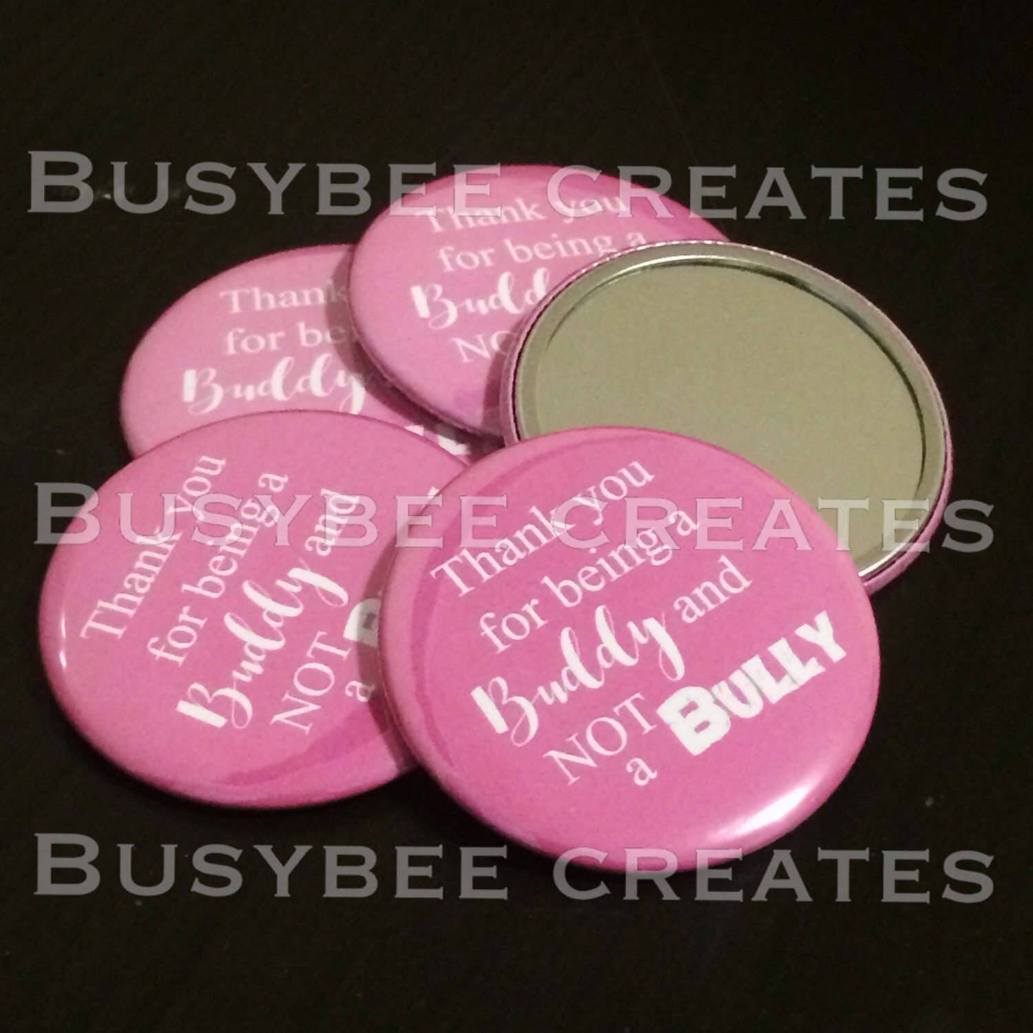 Custom Button Anti Bully Pin Be a friend not a Bully