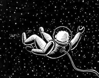Space Man - illustration art print